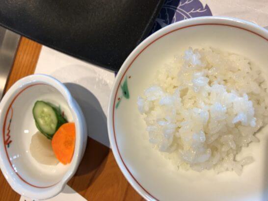 帝国ホテル東京の嘉門の白米