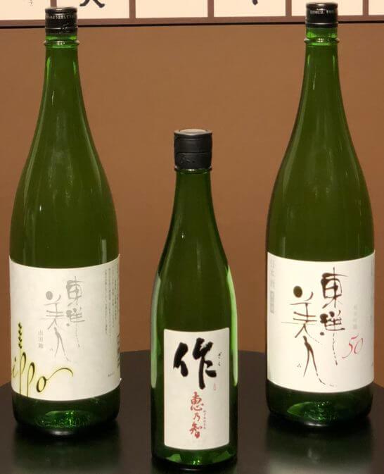 純米吟醸部門2018 1位~3位のボトル