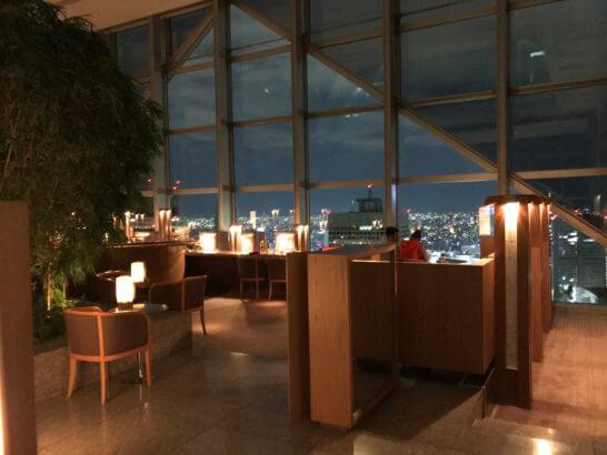 パークハイアット東京のピークラウンジ(バータイム)