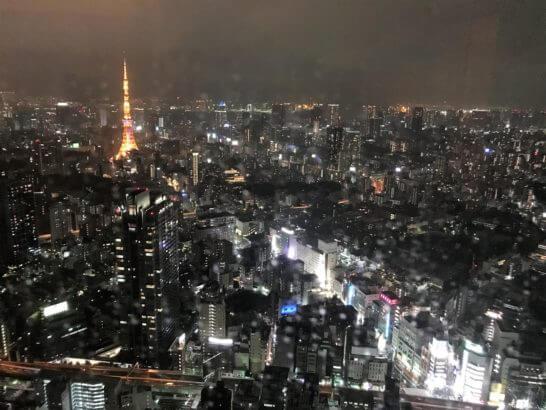 ザ・リッツ・カールトン東京のスイートルームの夜景