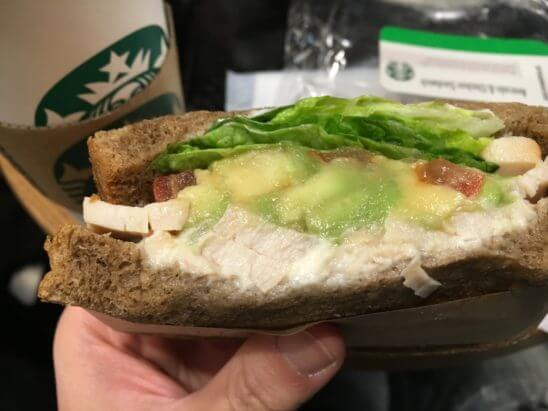 スターバックス(スタバ)のサンドイッチ
