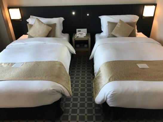 ANAインターコンチネンタルホテル東京のエグゼクティブルームのベッド