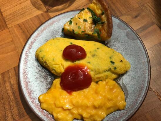アンダーズ東京の朝食(卵料理)