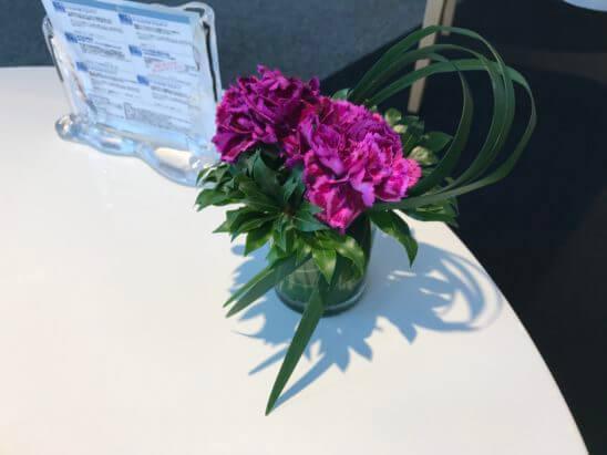 ダイナースクラブ 銀座ラウンジの花