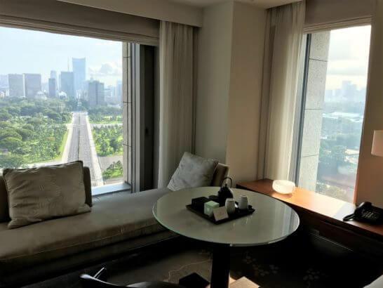 パレスホテル東京のグランドデラックスツインの窓からの景色