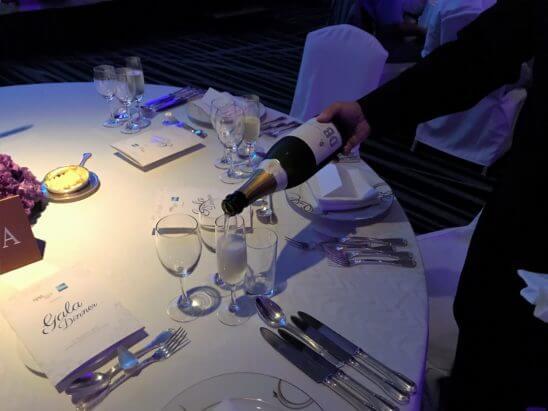 ガラディナーのシャンパン