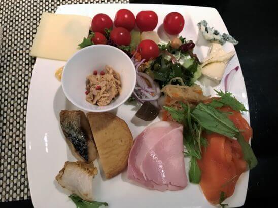 ANAインターコンチネンタルホテル東京の朝食のコールドミール