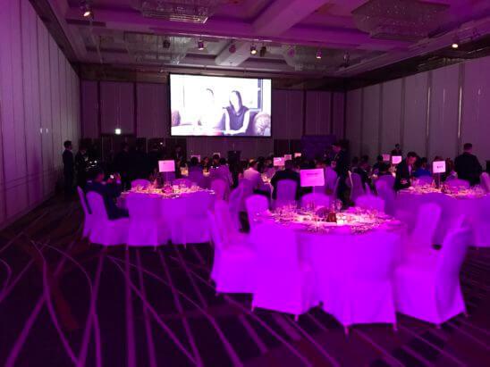 SPGの11ホテルブランドを体感できるラグジュアリーなガラディナーのテーブル