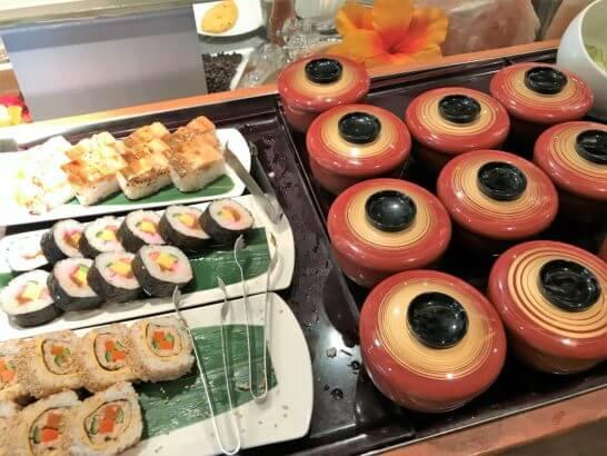 ANAインターコンチネンタルホテル東京の朝食(お寿司類)