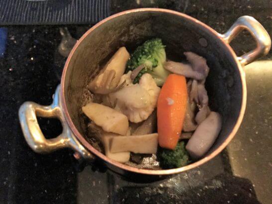 ザ・リッツ・カールトン東京のクラブラウンジの煮野菜
