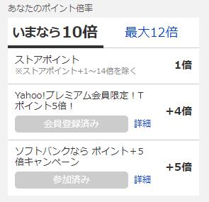 Yahoo!ショッピングのポイント10倍
