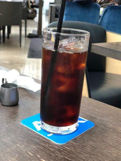 THE GREEN Café American Express×数寄屋橋茶房のアイスコーヒー