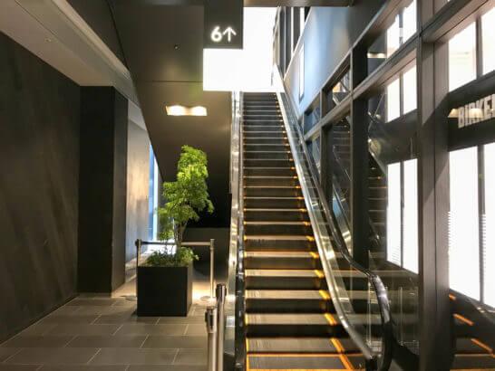東急プラザ銀座店の6Fへのエレベーター