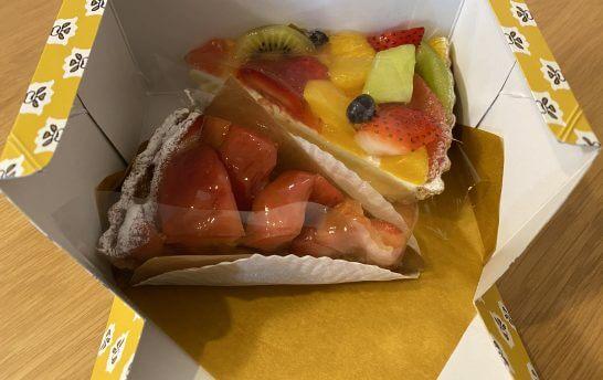 丸井のカフェで購入したケーキ
