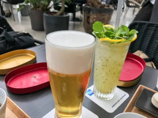 THE GREEN Cafe American Express×数寄屋橋茶房の生ビールとモヒート