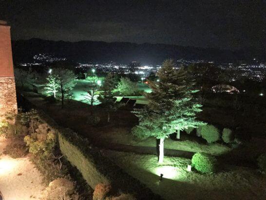 フルーツパーク富士屋ホテルの夜景