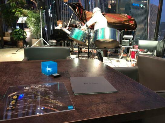 THE GREEN Cafe American Express×数寄屋橋茶房のJAZZライブとテーブル