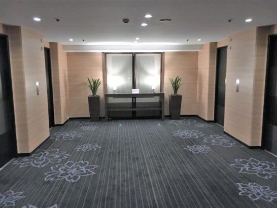 グランドプリンスホテル新高輪のエレベーターホール