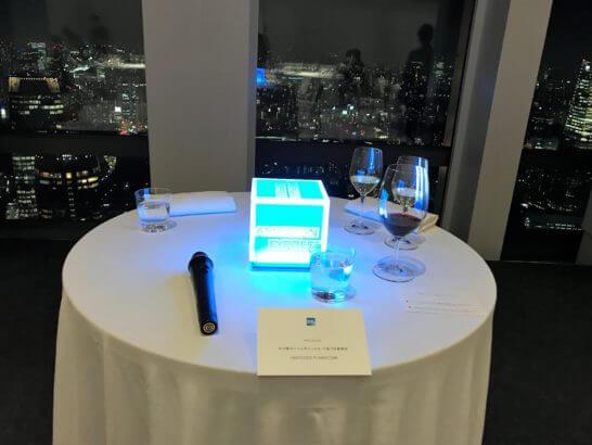 アメックス・ビジネス・ゴールドのイベントのテーブル