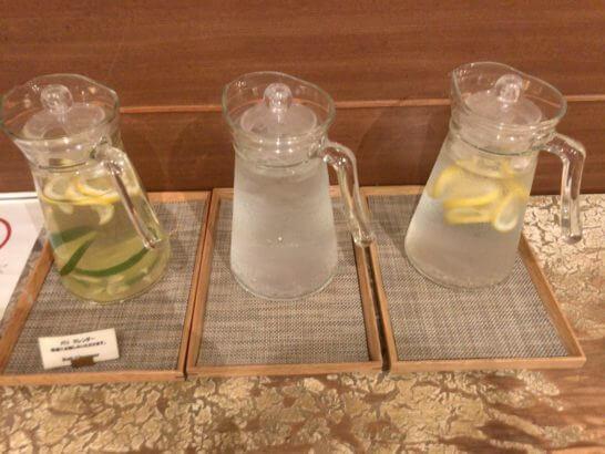椿山荘東京のSPAのお水類