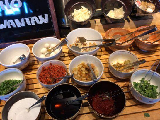 東京マリオットホテルの朝食のヌードルコーナー