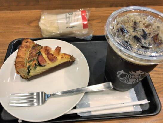 スターバックスの食事とコーヒー