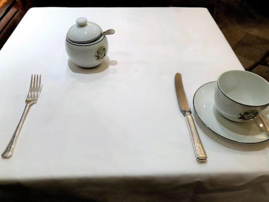 マリアージュフレールのテーブル