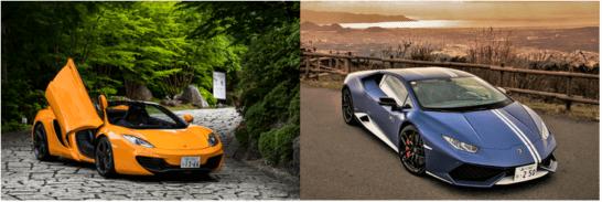 McLaren MP4 12C 、Lamborghini Huracan Avio