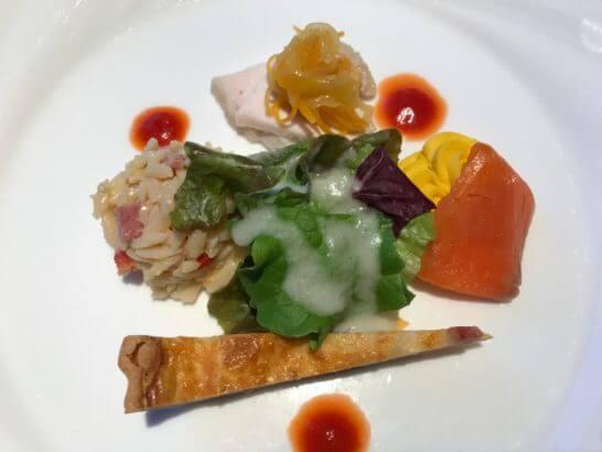 フルーツパーク富士屋ホテルの夕食(前菜)