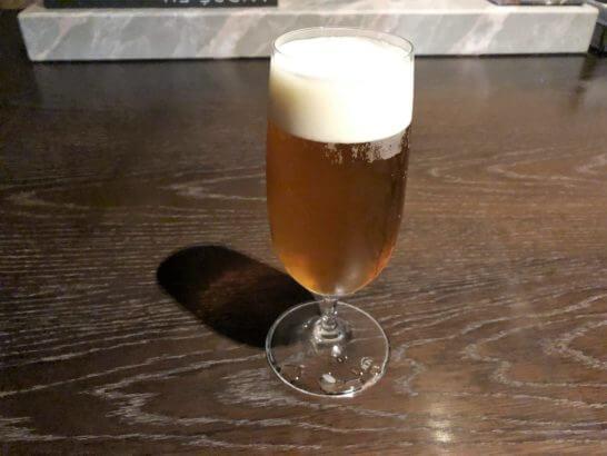 コンフォートカフェで頼んだ生ビール(ブラウマイスター)