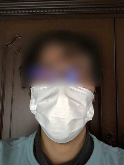 マスクを着けたまつのすけ