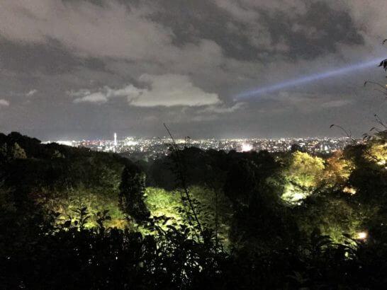 アメックスの清水寺イベントの夜景