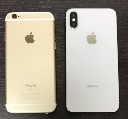 iPhone 6sとiPhone X