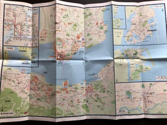 JALシティガイドマップ(香港・マカオ) (地図面)