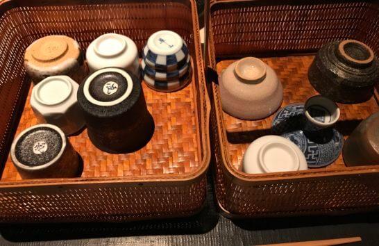 ひのきざかの日本酒のグラス