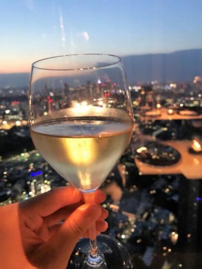 日本料理「ひのきざか」のシャンパン