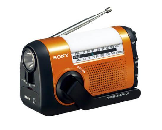 ソニーのFM/AMポータブルラジオ「ICF-B09」