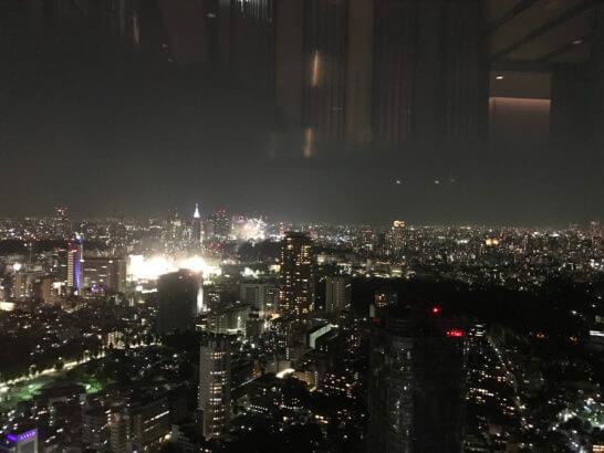 ザ・リッツ・カールトン東京のひのきざかからの夜景