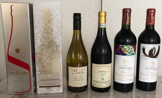 シャトー・ムートン・ロートシルト、その他シャンパン・白ワイン・赤ワイン