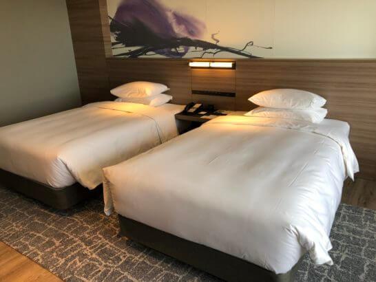 琵琶湖マリオットホテルのベッド