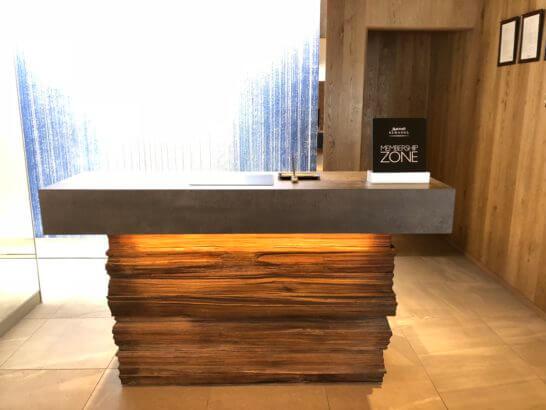 富士マリオットホテルのフロント