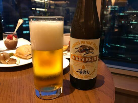 コンラッド東京のエグゼクティブ・ラウンジのビール
