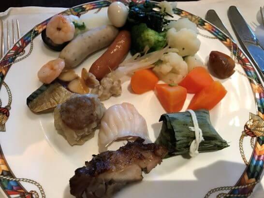 ウェスティンホテル東京の朝食 (ホットミール)