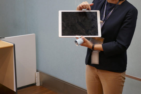ANA SPECIAL ASSISTANCEのiPad端末
