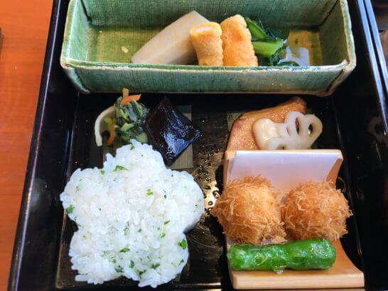 パークハイアット東京の日本料理 梢のランチのご飯・温物