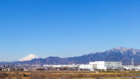 神奈川県寒川町近辺の圏央道・海老名南JCT付近