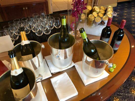 ウェスティンホテル東京 エグゼクティブ クラブラウンジのワイン・ビール