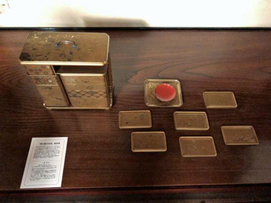 応挙館の象彦製の展示物(花見重)