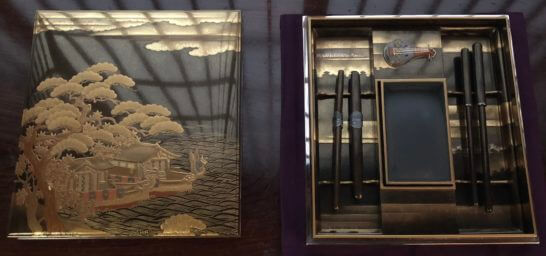 応挙館の象彦製の展示物(蒔絵覗箱)