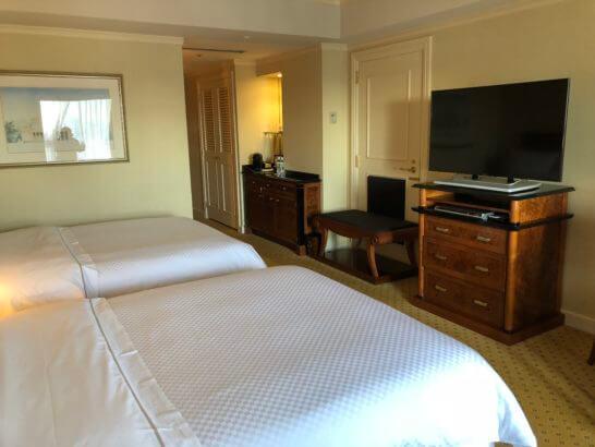 ウェスティンホテル東京のプラチナフロアのデラックスルーム